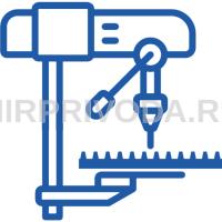 Расточка отверстия в зубчатой рейке М3 30х30, D 8 мм