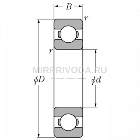 Радиально-упорный шариковый подшипник (однорядный) 7408 B