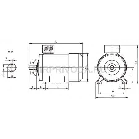 Электродвигатель BH 132S6 B3 (3/1000)