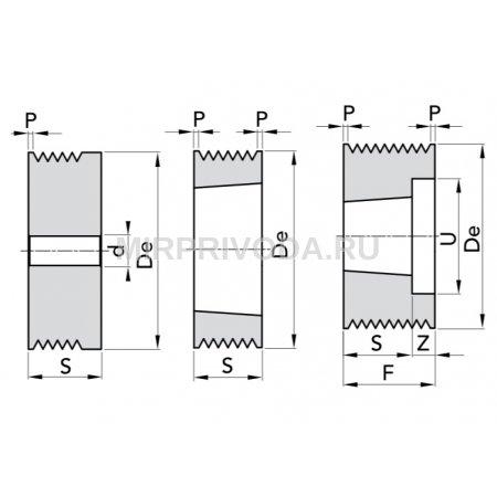 Шкив поликлинового ремня Micro-V PPV-J D=95/8 TB1610