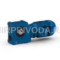 Мотор-редуктор SUA 608B 3C L100L-04E-TH-TF-KTH5-ZWM(i=46.31 H30 D45 С двойным тормозом театрального исполнения с пониженным уровнем шума