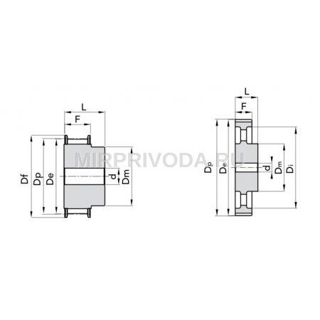 Шкив зубчатый Poly Chain GT 5MR-15-12