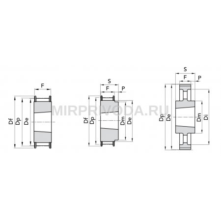 Шкив зубчатый HTD 8M-50-38 TB1615