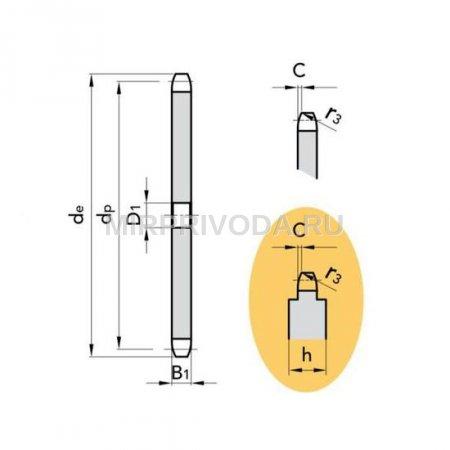 Звездочка 06B-1 без ступицы, под расточку, Z=10