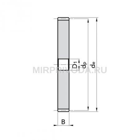 Шестерня цилиндрическая M5 Z=75 без ступицы
