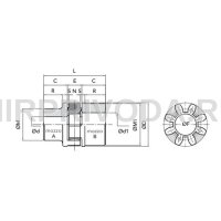 Муфта GE-T 55-70 A-B Red