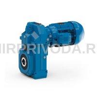 Мотор-редуктор ASA 86A 3C 132S-04E-TH-TF-BR60 (i=76.36, d=60, H10)