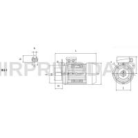 Электродвигатель CHT 71B 2 B34 (0,55/3000)