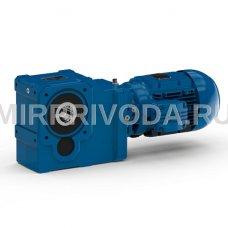 Мотор-редуктор KUA 77A 25.28 D60 H30 3B 132M-04F-12