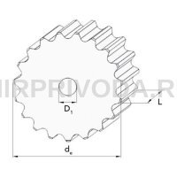 Зубчатое конвейерное колесо Z=19