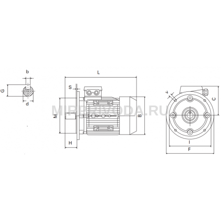 Электродвигатель CHT 80B6 B5 (0,55/1000)