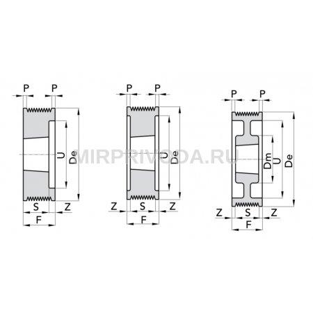 Шкив поликлинового ремня Micro-V PPL D=250/8 TB3020